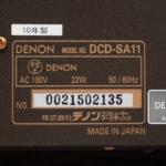 DENON DCD-SA11